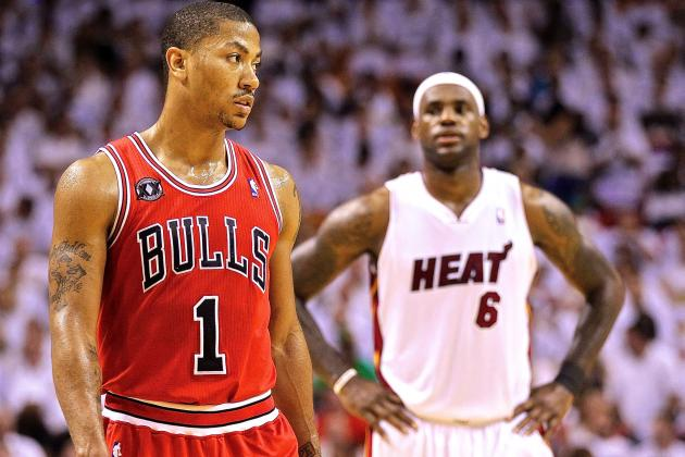 3265d1dd031b LeBron James vs. Derrick Rose  How Superstars Have Stacked Up Throughout  Careers