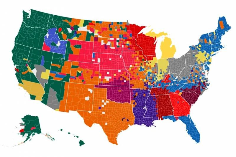 us map of football teams Facebook Creates College Football Fandom Map Based On User Likes