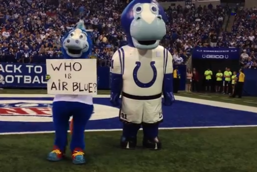 Pacers Star Paul George Doubles As Air Blue Mascot At