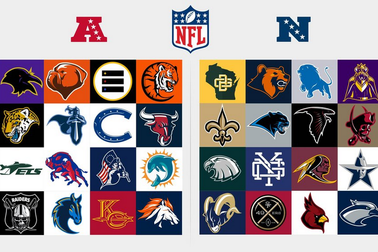 Redesigned Logos For Every Nfl Team Bleacher Report Latest