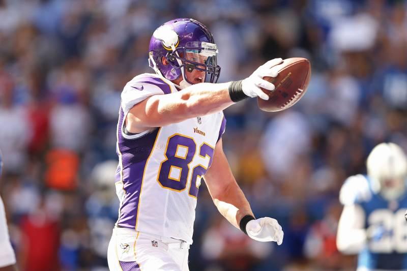 hot sale online bafd6 35b47 What's Happened to the Minnesota Vikings TE Kyle Rudolph ...