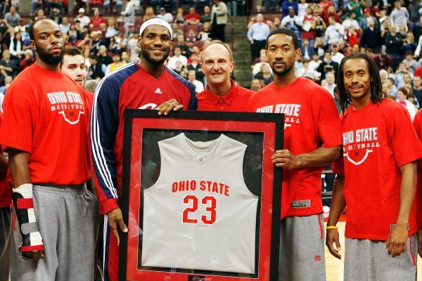 wholesale dealer 49610 830eb Ohio State Basketball: Pros and Cons of LeBron James ...