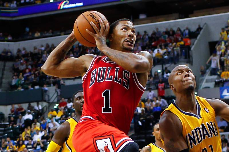 9d022689757 Derrick Rose Says Vertical Leap Has Increased by 5 Inches Since ACL Injury