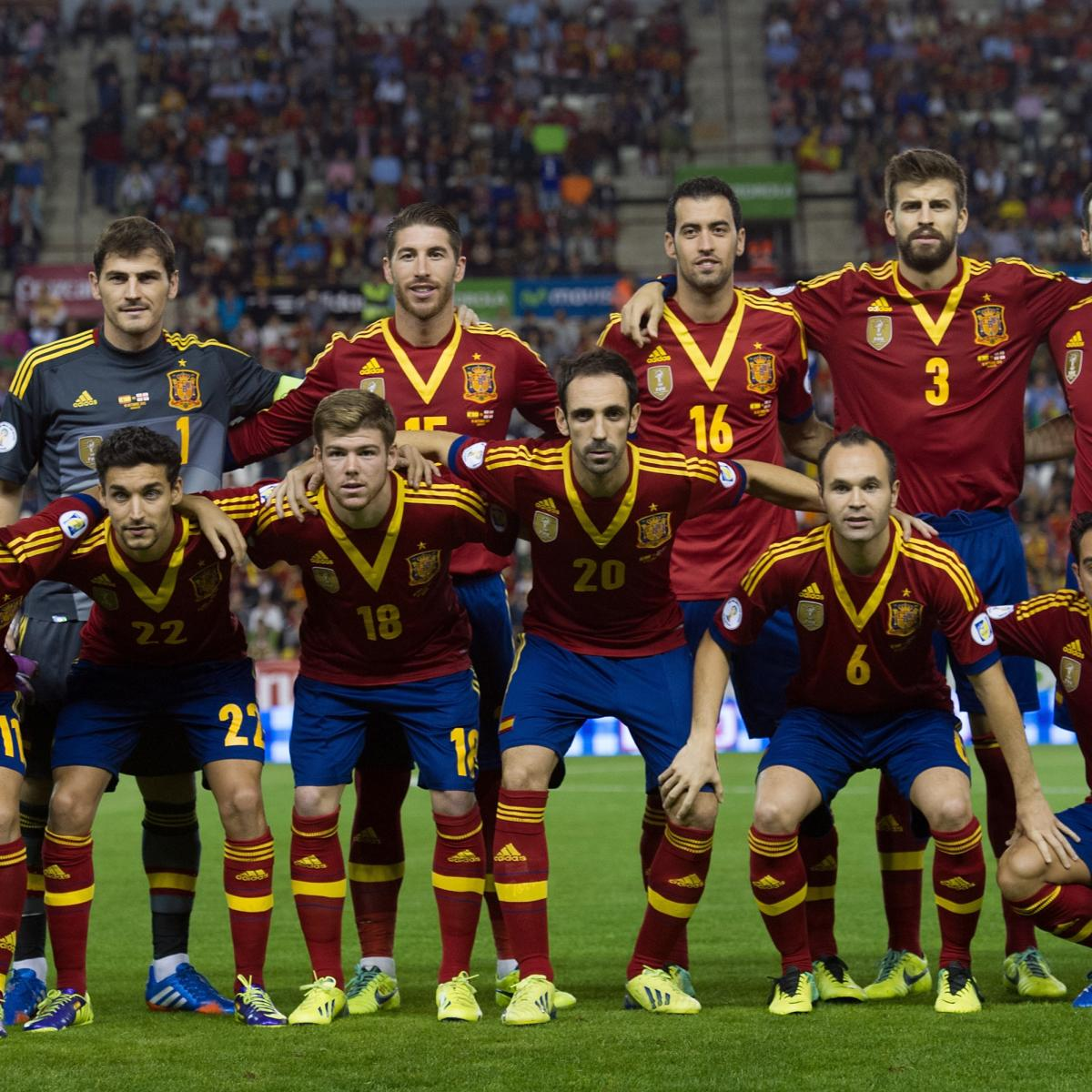 76fe7495678 Spain World Cup Roster 2014  Updates on 23-Man Squad and Starting XI  Projections