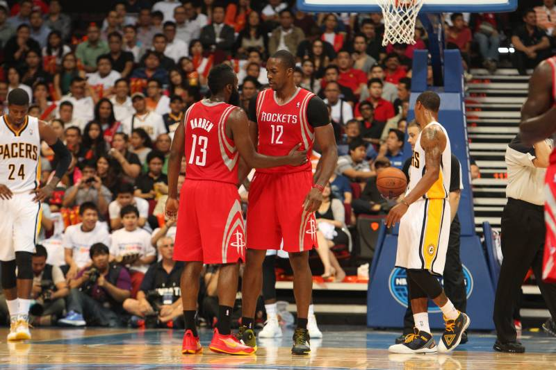 bf23654b158 How James Harden and Dwight Howard Can Become NBA s Best Inside-Outside Duo