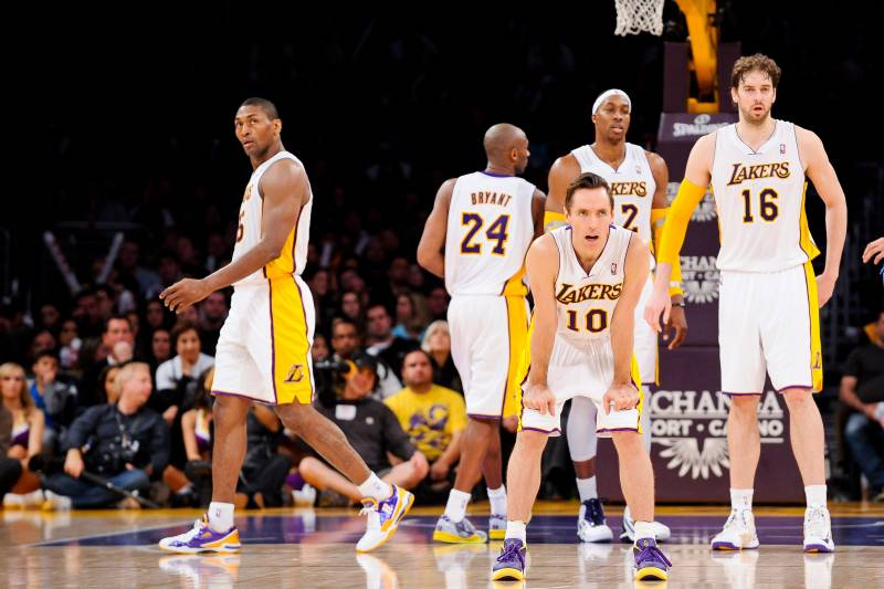 purchase cheap f8c61 26c8b Comparing LA Lakers  2013-14 Opening Day Roster vs. Start of Last Season