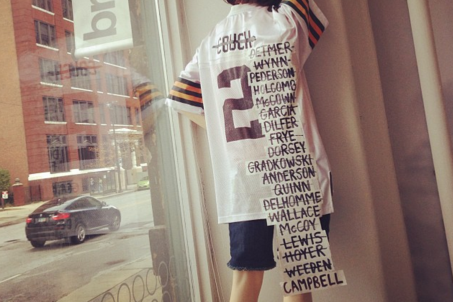newest 97e03 20458 The Cleveland Browns Quarterback Jersey Gets Yet Another ...