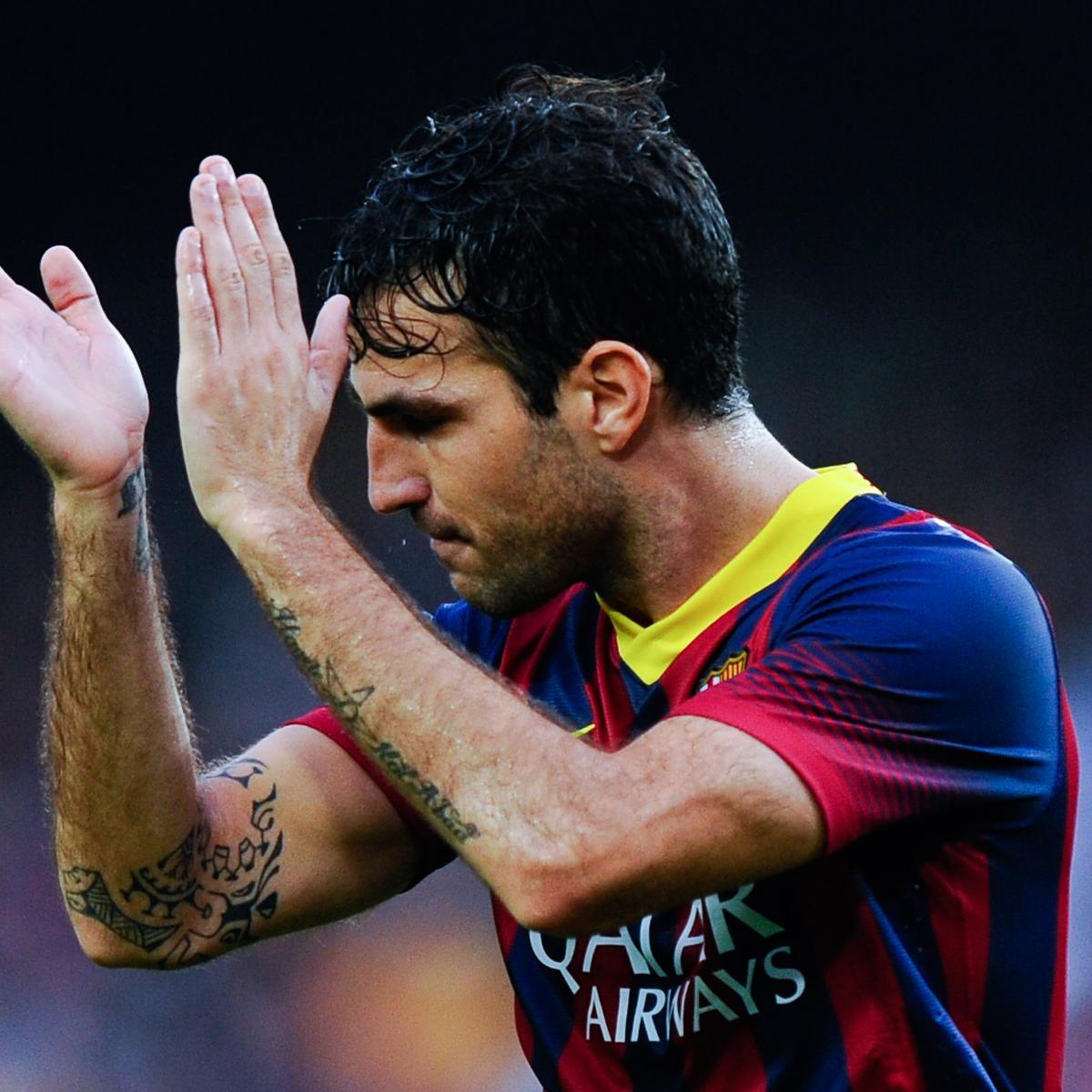 Celta Vigo Vs Barcelona Live Commentary: GIF: Cesc Fabregas Needs Luck To Finish Amazing Barcelona