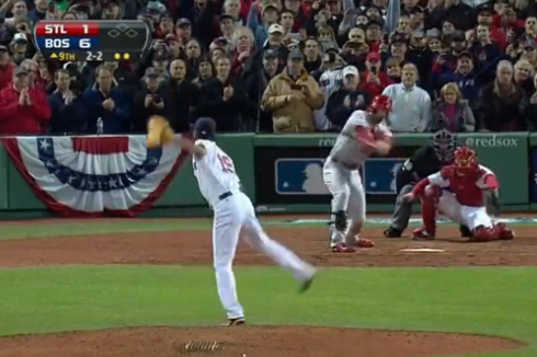 Final out of Red Sox 2013 World Series Victory | Bleacher