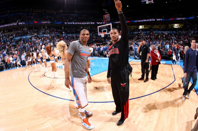 49933976df4 Russell Westbrook vs. Derrick Rose  Who Will Find Peak Form First Post- Injury