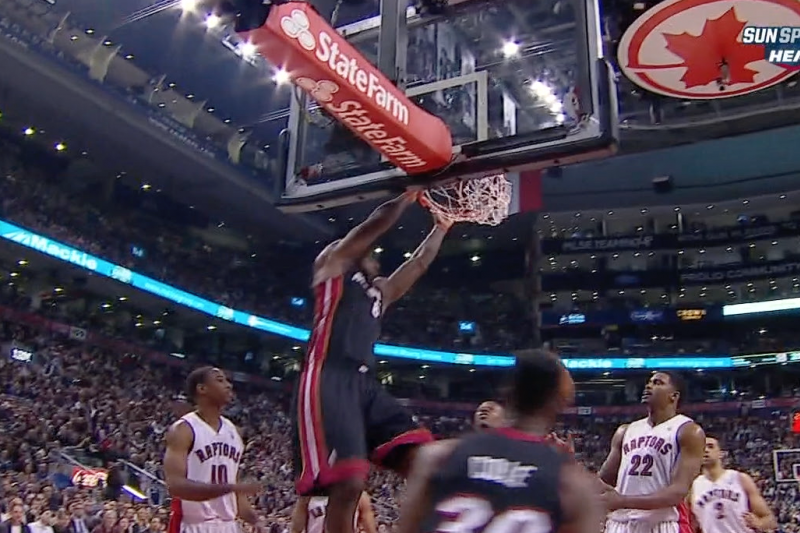 LeBron James Throws Down a Putback Dunk vs. the Raptors