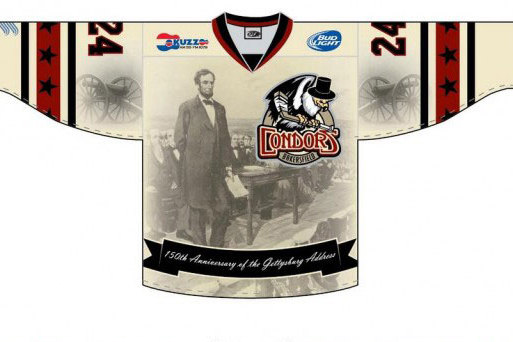 online store 219aa ebe44 Minor League Hockey Team to Wear Gettysburg Address Jerseys ...