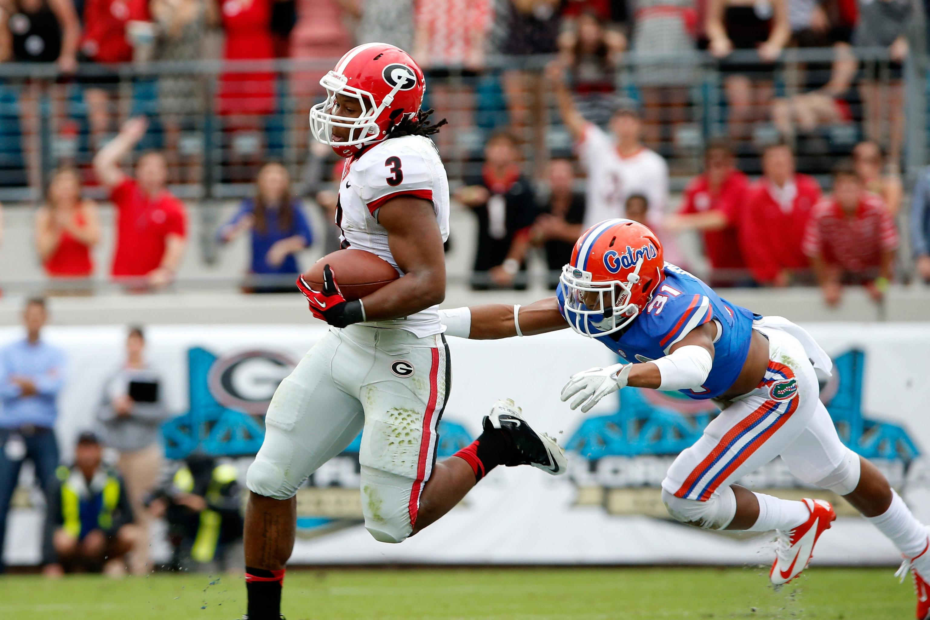 Film Study Breaking Down Todd Gurley S 78 Yard Td Vs Florida Bleacher Report Latest News Videos And Highlights