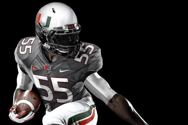 quality design 7f1fa d0224 Miami Hurricanes Unveil 'Smoke' Jerseys for Game Against ...