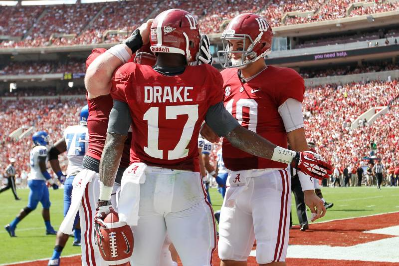 watch 1ad5c ab417 Alabama Football: Yeldon, Drake Create Havoc for Defenses ...