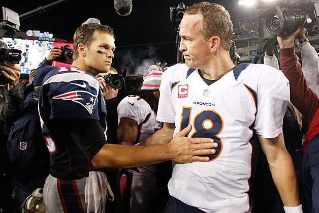 Image result for tom brady peyton manning broncos