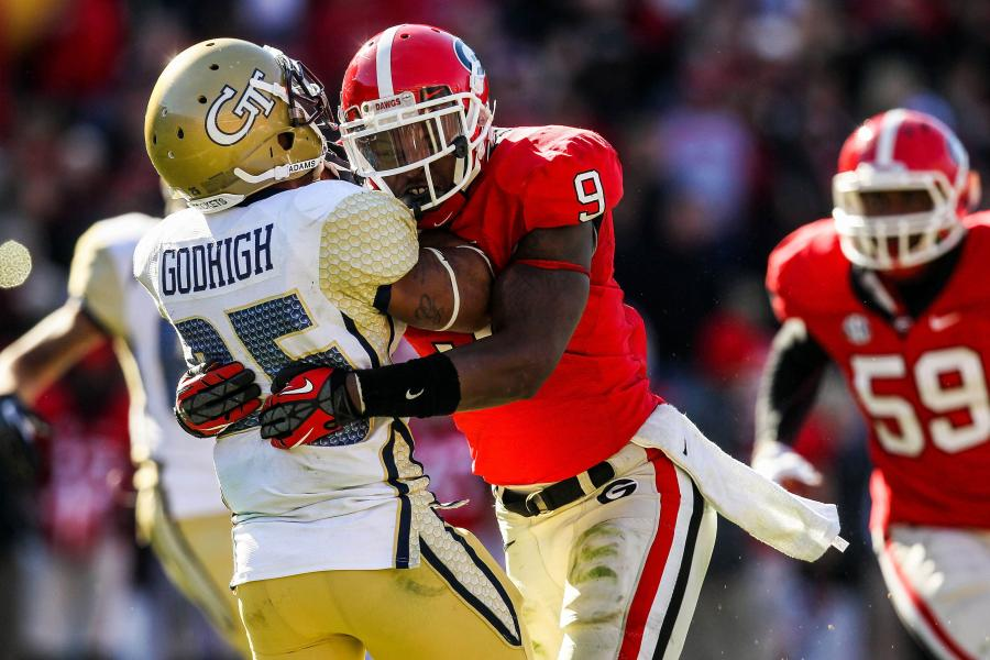 Georgia Vs Georgia Tech Top 10 Moments In The History Of This Rivalry Bleacher Report Latest News Videos And Highlights