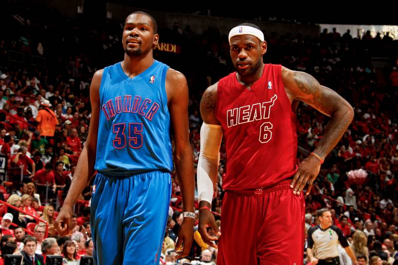 buy popular 19cee 2c70e LeBron James and Kevin Durant Named NBA Players of the Week