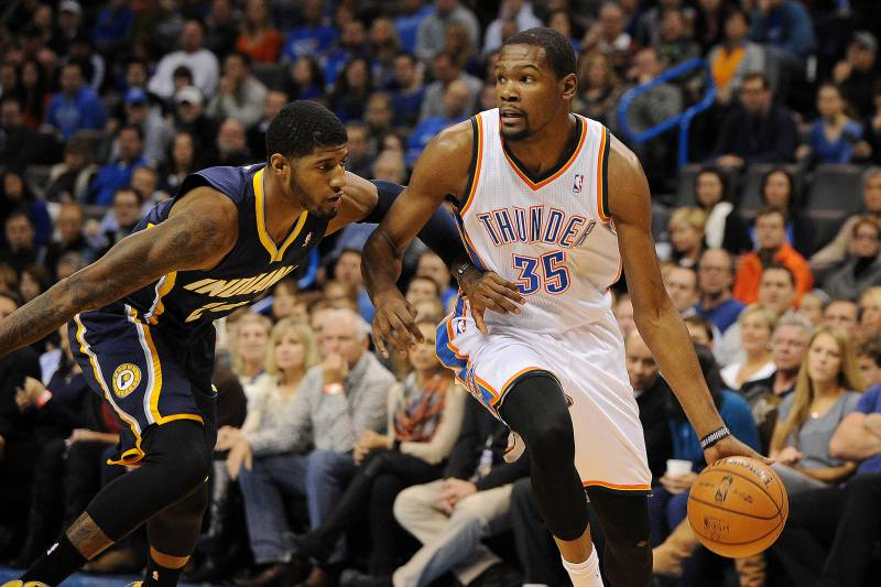 784573508a77 Paul George Thinks He Would Beat Kevin Durant in Game of 1-on-1 ...