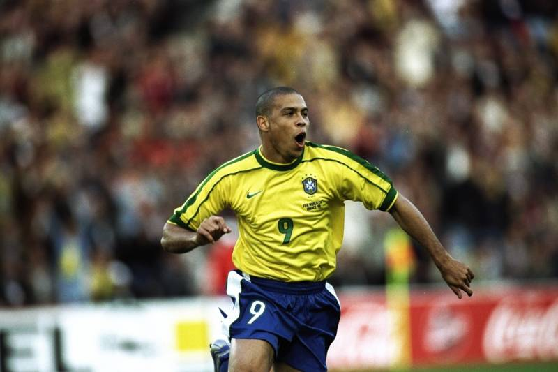 24cdb7323 16 Jun 1998  Ronaldo of Brazil celebrates after scoring in the World Cup  group A