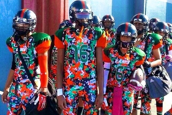 new styles 58cd3 a3fab Youth Football Team Wears Crazy Digital Camo Uniforms ...