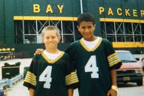 size 40 7612a 1b973 Young Colin Kaepernick Went to Lambeau Field in Packers ...