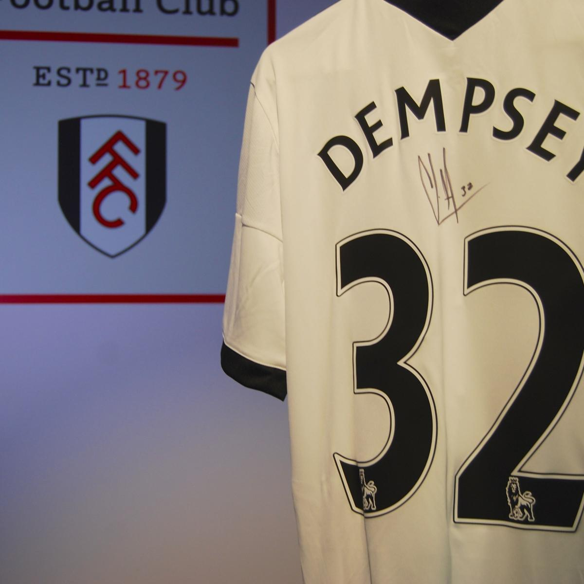 3690a50d929 Win Signed Clint Dempsey Fulham Shirt in Our Fan Friday Giveaway ...