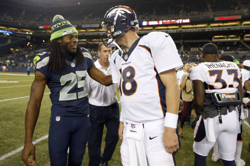 factory price fd576 07a7d Richard Sherman Touts Classy Gesture by Peyton Manning After ...