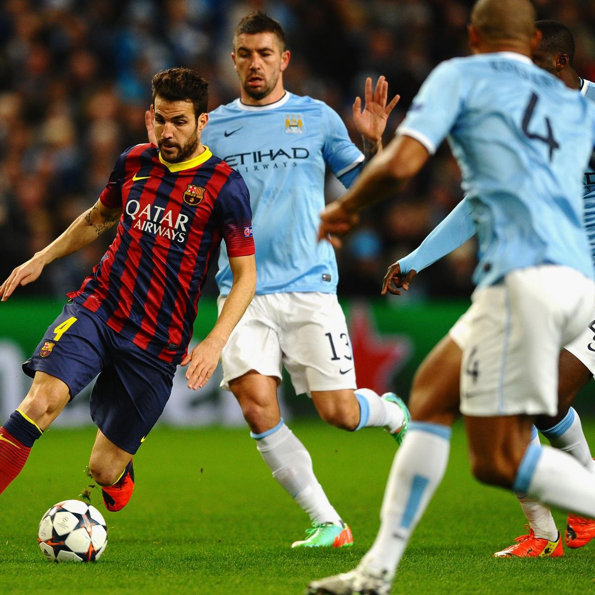 Psg Vs Manchester City Live Score Highlights From: Manchester City Vs. Barcelona: Champions League Live Score