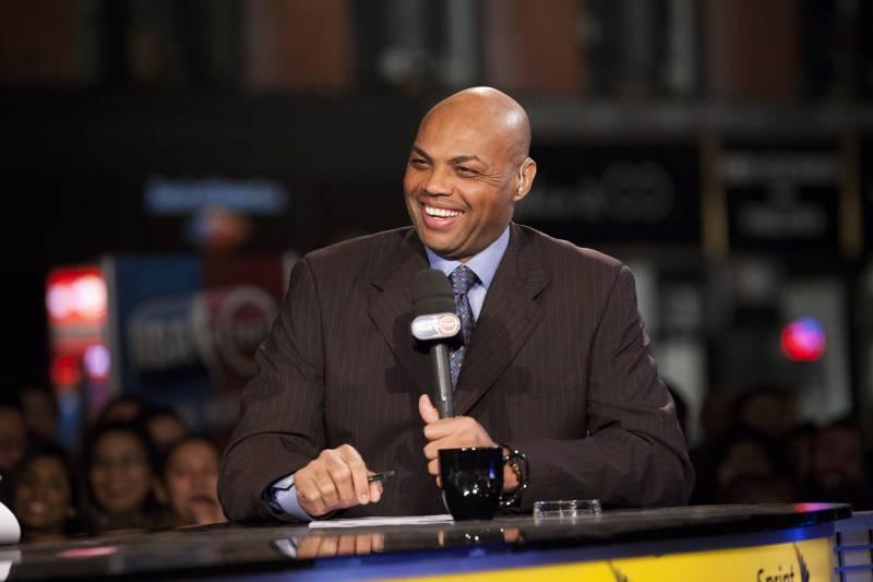 b2d373a45b5 NEW YORK CITY - OCTOBER 29  TNT analyst Charles Barkley laughs as the NBA  season