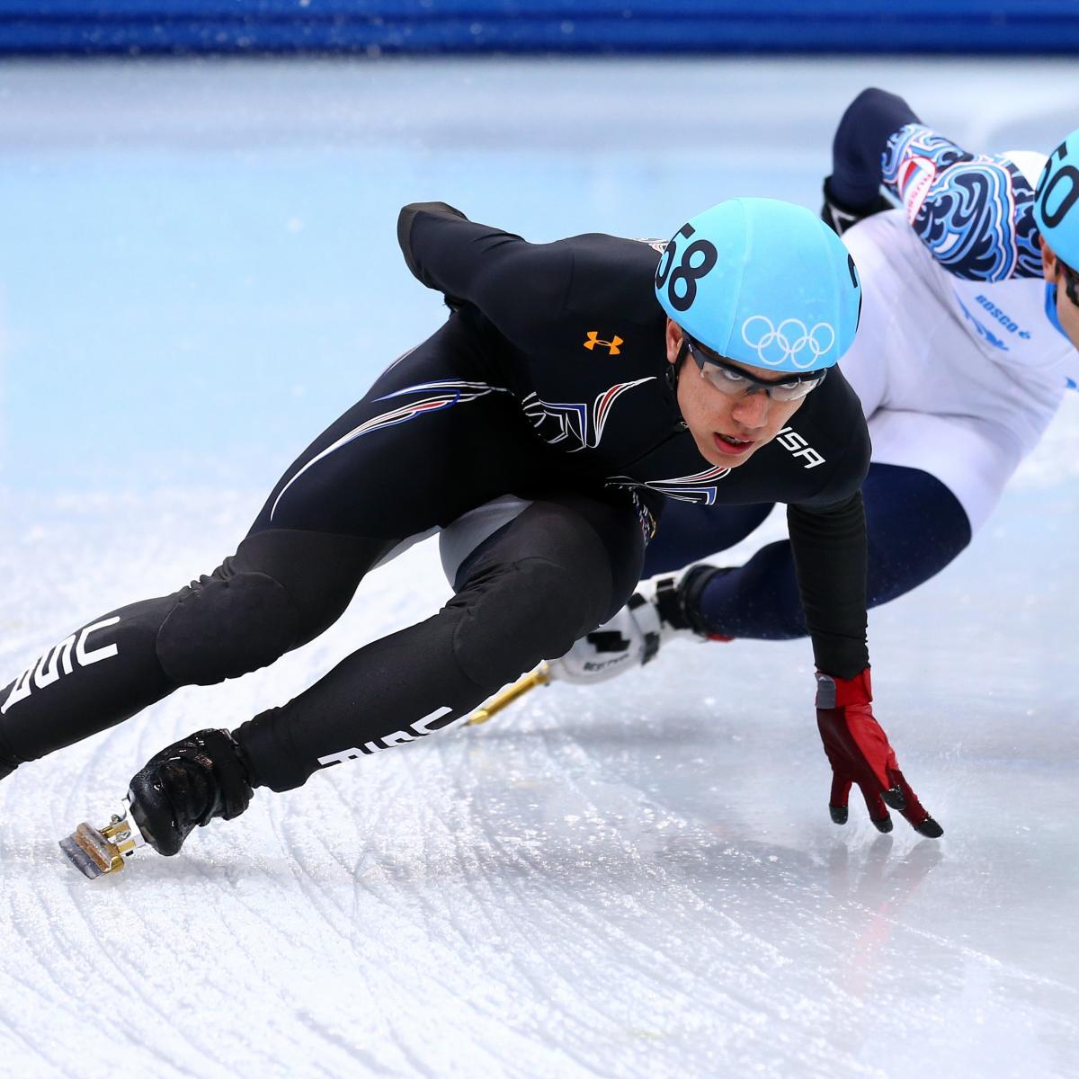 JR Celski Wins Silver Medal in Men's 5000-Meter Relay at Sochi 2014 Olympics