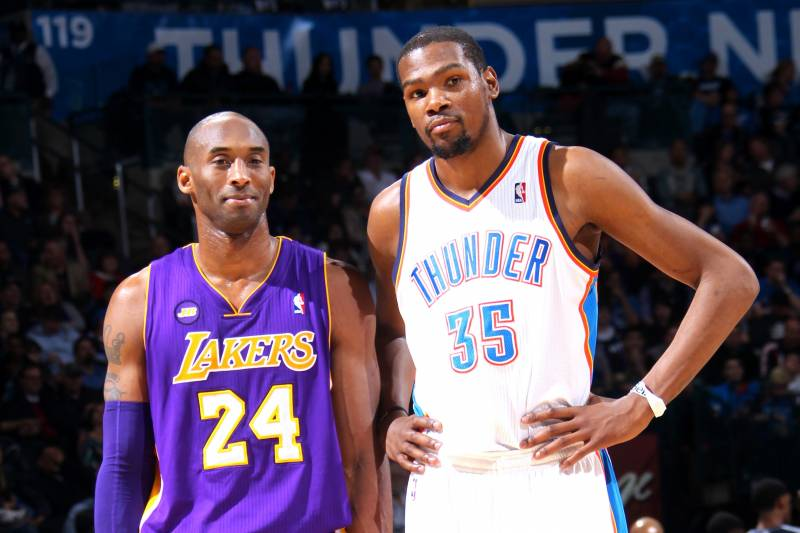 Kobe和杜蘭特單挑誰能贏?黑曼巴直言:能贏我的人,03年就已經退役了!