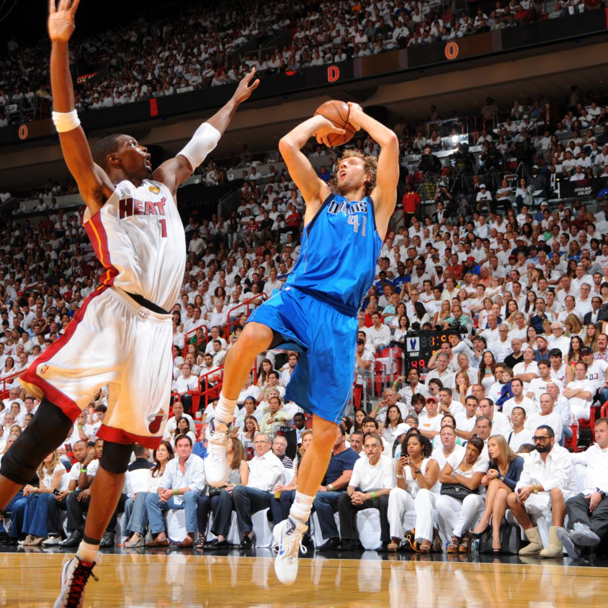 157ccf256b51b4 Dirk Nowitzki s One-Legged Fadeaway and 25 Most Unstoppable Moves in NBA  History