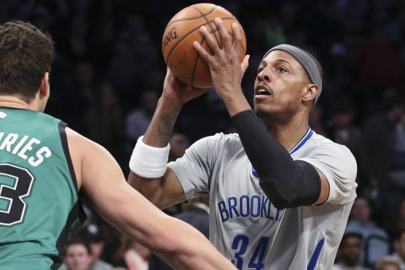 quality design ddaaf acd4c Paul Pierce Says Sleeved Jerseys Are 'Cool' Despite Other ...