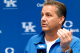 ARLINGTON, TX - APRIL 07: Head coach John Calipari of the Kentucky Wildcats reacts during the NCAA Men's Final Four Championship against the Connecticut Huskies at AT&T Stadium on April 7, 2014 in Arlington, Texas.  (Photo by Jamie Squire/Getty Images)