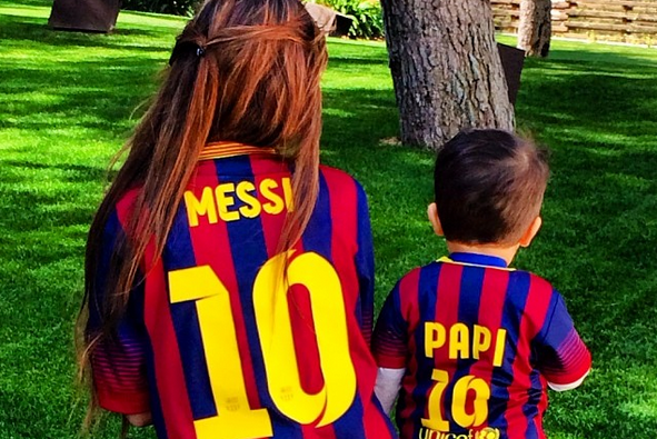 lowest price e1bb8 c36a4 Lionel Messi's Son Thiago Has an Adorable Personalised ...