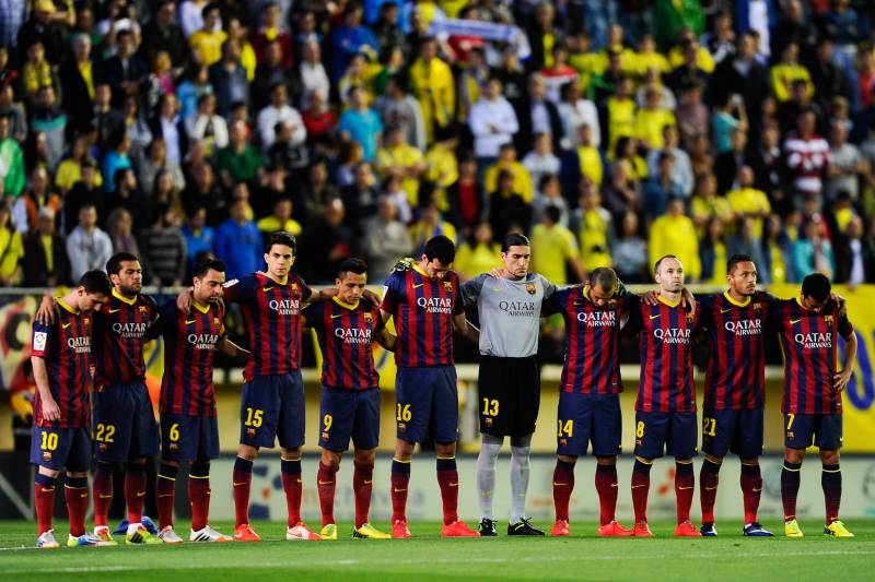 57e36651b Barcelona Reveal Tito Vilanova Tributes on Home Shirts for Nou Camp Farewell