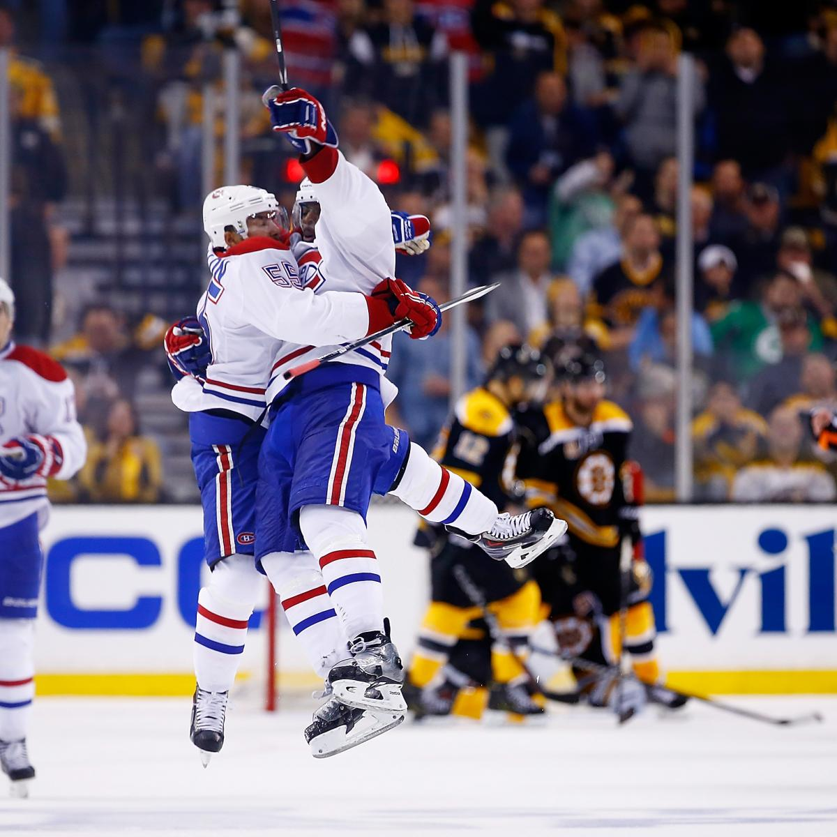 Montreal Canadiens Vs. Boston Bruins Game 1: Live Score