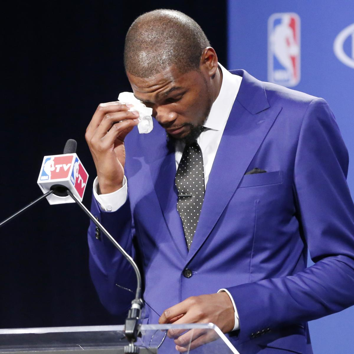 Kevin Durant Gives Thanks in Emotional NBA MVP Acceptance Speech | Bleacher Report | Latest News ...