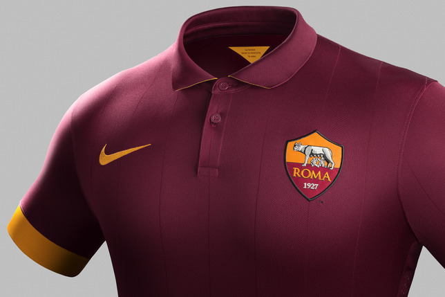 newest f2cc7 b59b2 AS Roma Unveil First Home Kit Under Their New Nike ...