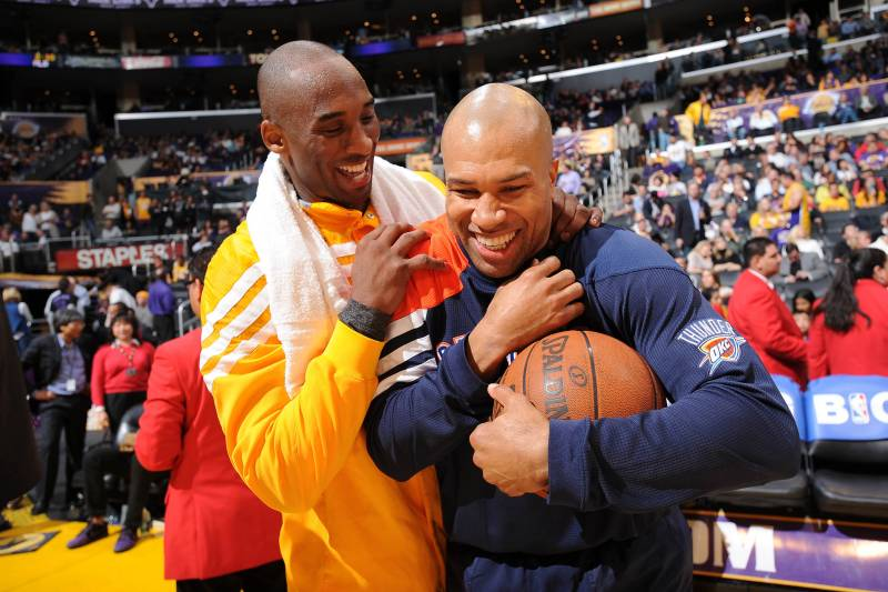 0a7a1c3850b Derek Fisher Thinks He Could Coach Longtime Teammate Kobe Bryant ...