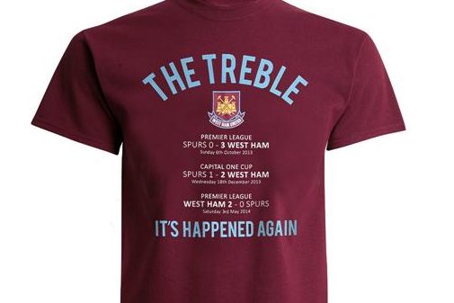 West Ham Create The Treble Shirts To Celebrate Their Three Wins Over Tottenham Bleacher Report Latest News Videos And Highlights
