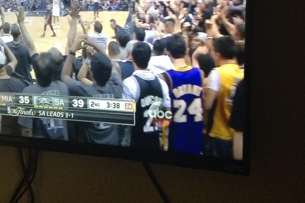 quality design 88227 d9e1f Guy Wears Kobe Bryant Jersey to Game 5 of NBA Finals ...