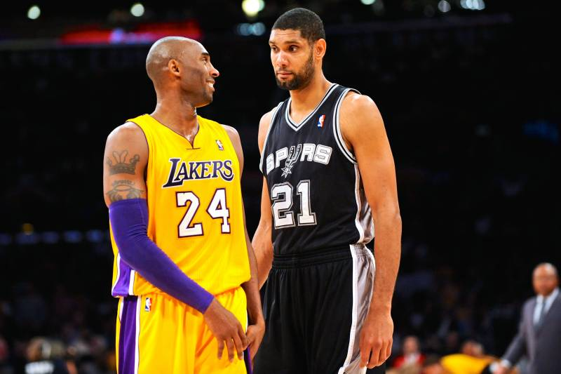 05051c6ab9a8 Kobe Bryant  Not Okay With  Tim Duncan Winning 6th Ring Before Him ...