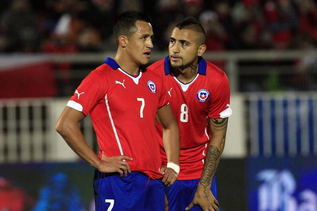 Image result for Alexis Sanchez with Arturo Vidal