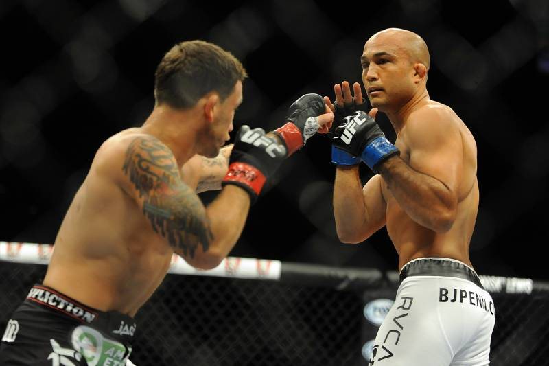 Edgar met BJ Penn for the third time at Featherweight image courtesy of USA TODAY Sports
