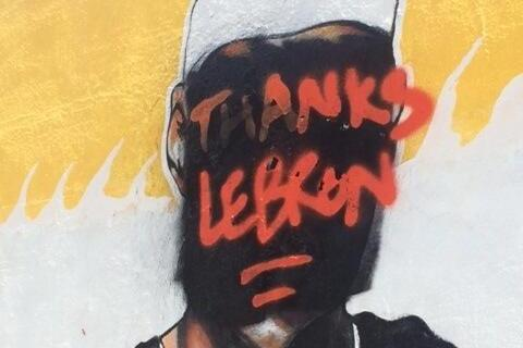 size 40 77e0a f4736 Heat Fans Respond to LeBron James Leaving by Defacing Mural ...