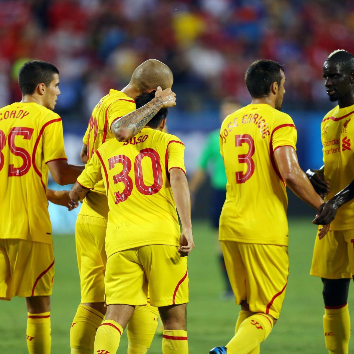 Liverpool Fc 4 0 Barcelona International Champions Cup: International Champions Cup Final: How Liverpool Will Line