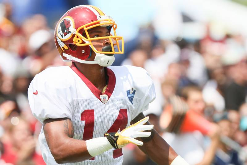 fd5d6d2f8 Washington Redskins WR Ryan Grant looks for a pass from Robert Griffin III  before an NFL