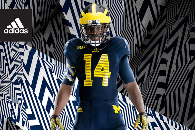 dda26974e Michigan Football and Adidas Unveil New TECHFIT Uniform